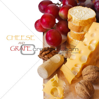 Cheese and fruit.