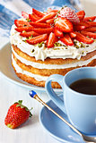 Strawberry cake.
