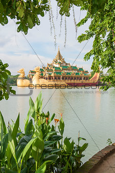 royal barge in yangon myanmar