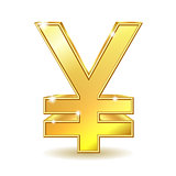 Golden Yen Sign.