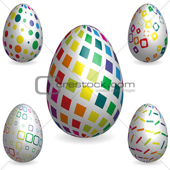 abstract 3D easter eggs