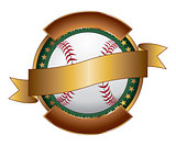 Baseball Design Template Ribbon