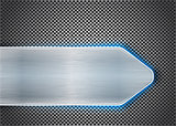 Brushed metal on textured metal