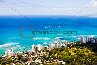Beautiful Skyline in Oahu,Hawaii