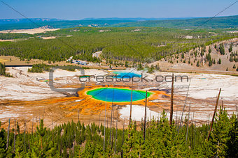 Grand Prismatic Spring in Yellowstone National Park ,USA