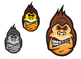 Angry monkey mascot
