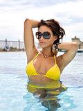 Attractive Woman Sunbathing