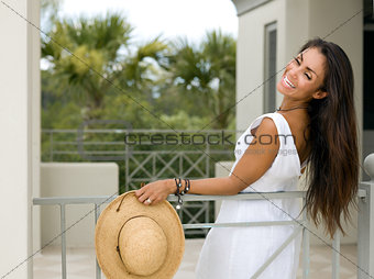 Attractive Woman on Vacations