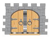 Gates in fortress