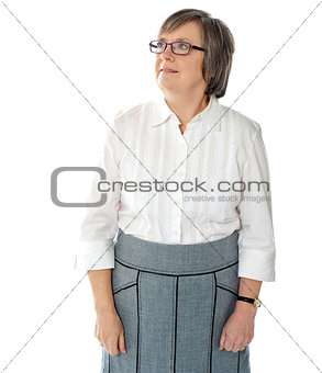 Portrait of an attractive aged businesswoman
