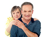 Portrait of happy aged smiling couple