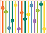 Spring background with straws balls