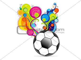 abstract colorfull football explode