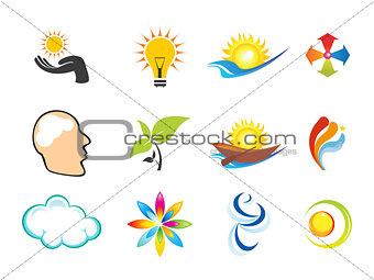 abstract multiple logo templates