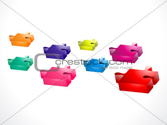 abstract colorful puzzel icon