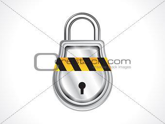 abstract shiny pad lock icon