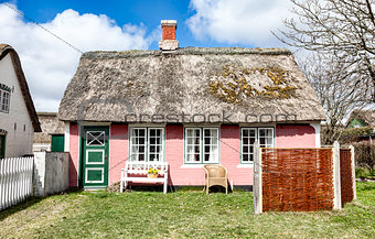 Traditional house in Sonderho on the danish island Fano