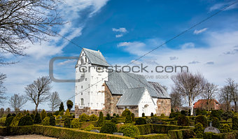 Medieval church in Vester Nebel, Esbjerg, Denmark