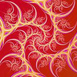 Cream on Red Spiral