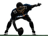 center american football player man silhouette