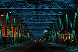 The Waibaidu Bridge (garden bridge)  at night shanghai china