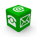 Green contact button