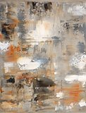 Grey and Beige Abstract Art Painting