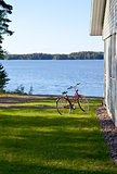 Bicycle on the lake shore