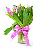 pink tulip bouquet