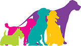 Dog Silhouettes Colour