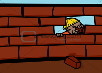 Bricklayer Closing Wall