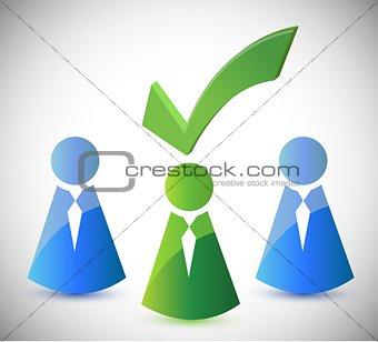 candidate selection illustration design