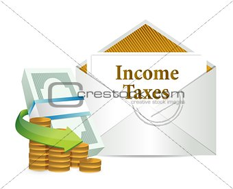 income taxes mail and cash