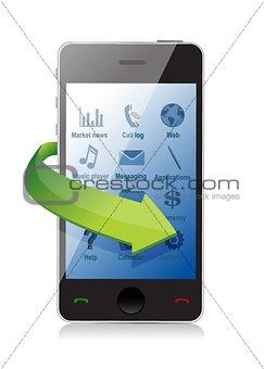 smartphone settings illustration design