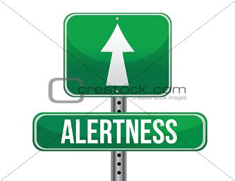 alertness road sign illustration design