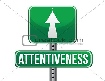 attentiveness road sign illustration design