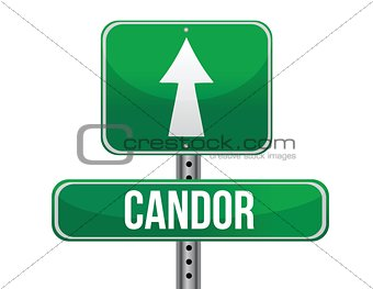 candor road sign illustration design