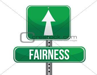 fairness road sign illustration design