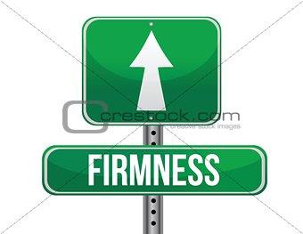 firmness road sign illustration design