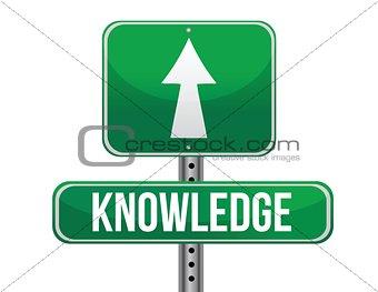 knowledge road sign illustration design