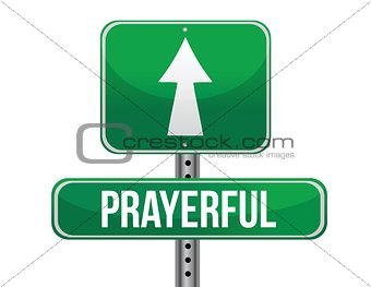 prayerful road sign illustration design