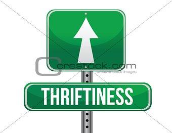 thriftiness road sign illustration design