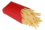 French fries in a box