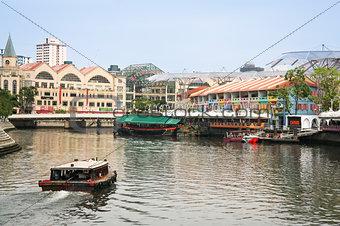 clarke quay riverside singapore city