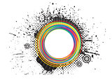 abstract colorful grunge splash