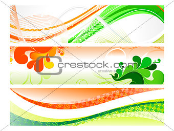 abstract indepandance day banner