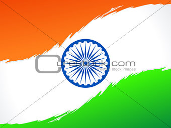 abstract indian flag