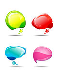 abstract multiple colorful chat balloons