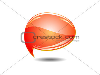 abstract orange chat balloons