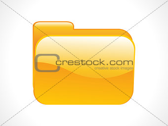 abstract shiny folder icon